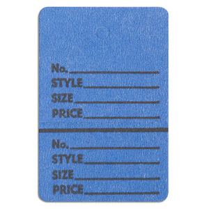 "Merchandise Tag without String - 1-1/2"" x 1-3/4"" - Blue"
