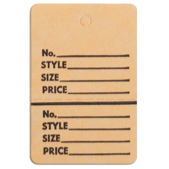 Merchandise Tag without String - 1-1/2