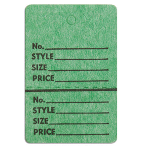 "Merchandise Tag without String - 1-1/2"" x 1-3/4"" - Green"