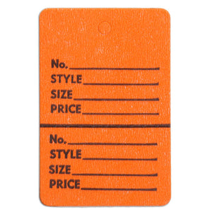 "Merchandise Tag without String - 1-3/4"" x 2-7/8"" - Orange"