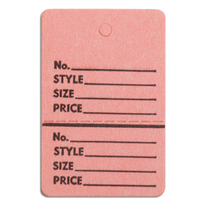 "Merchandise Tag without String - 1-3/4"" x 2-7/8"" - Pink"