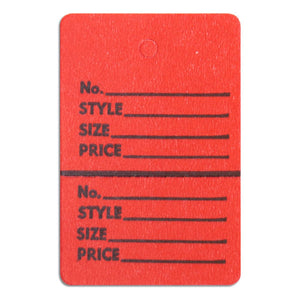 "Merchandise Tag without String - 1-3/4"" x 2-7/8"" - Red"