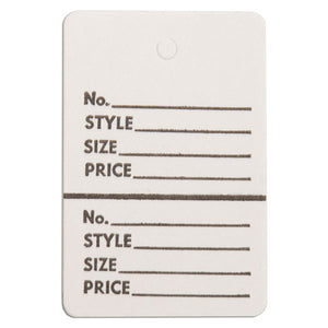 "Merchandise Tag without String - 1-3/4"" x 2-7/8"" - White"