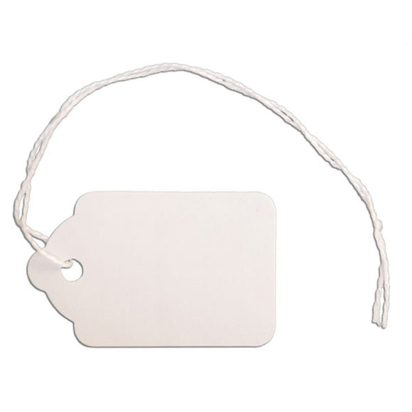 Merchandise Tag with String - 1-1/8