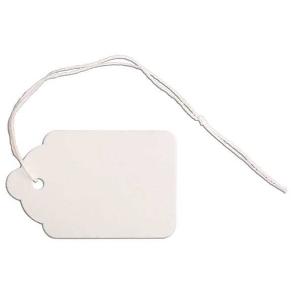 Merchandise Tag with String - 1-1/4