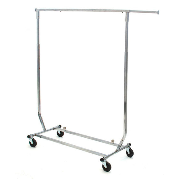 Rolling Salesman Rack - Single - Chrome