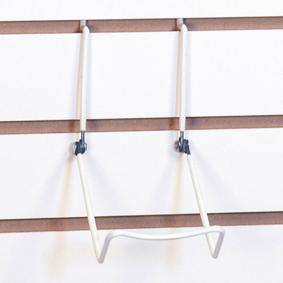Slatwall Adjustable Easel - White- Pack 5