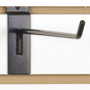 "Slatwall Hook 12"" - Black - 100/Carton"
