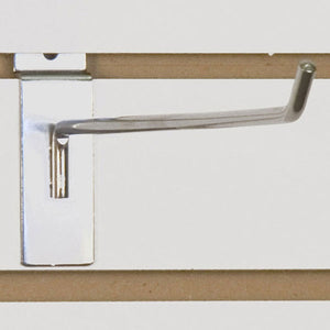 "Slatwall Hook 12"" - Chrome - 100/Carton"