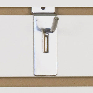"Slatwall Hook 2"" - Chrome - 100/Carton"