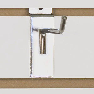 "Slatwall Hook 4"" - Chrome - 100/Carton"