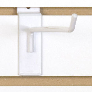 "Slatwall Hook 8"" - White - 100/Carton"