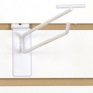 "Slatwall Scanner Hook - 10"" - White - 100/Carton"