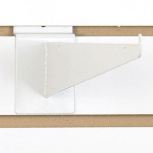 "Slatwall Shelf Bracket 12"" White - 25/Carton"
