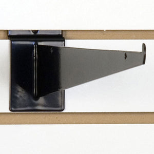 "Slatwall Shelf Bracket 14"" Black - 25/Carton"