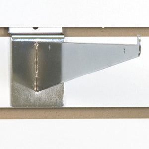 "Slatwall Shelf Bracket 14"" Chrome - 25/Carton"