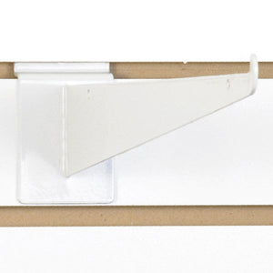 "Slatwall Shelf Bracket 14"" White - 25/Carton"