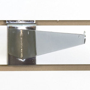 "Slatwall Shelf Bracket 16"" Chrome - 25/Carton"