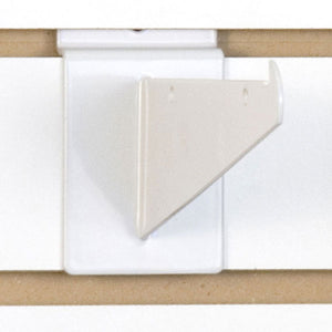 "Slatwall Shelf Bracket 6"" White - 25/Carton"