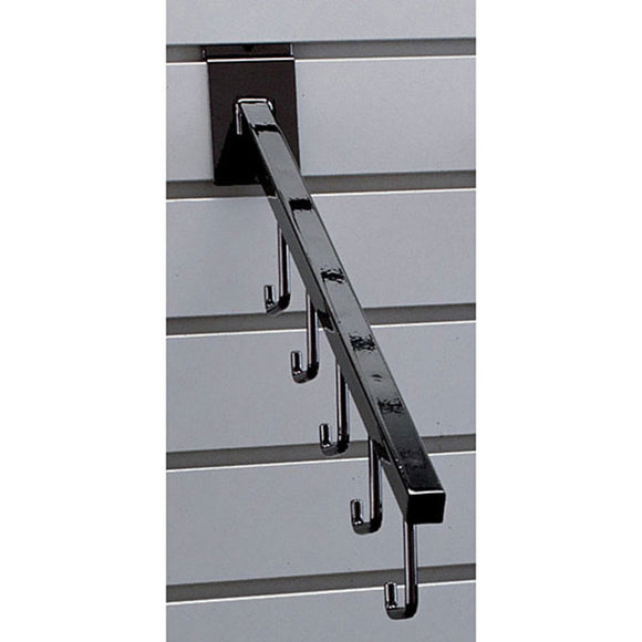 Square 5-Hook Slatwall Waterfall - Black