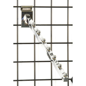 Square Gridwall 7-Ball Waterfall - Chrome