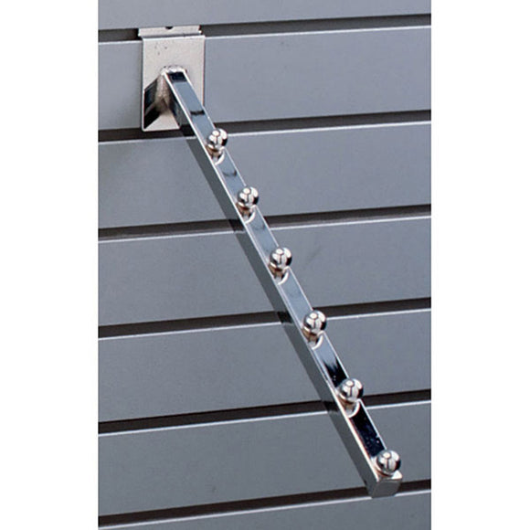 Square Slatwall 6-Ball Waterfall - Chrome