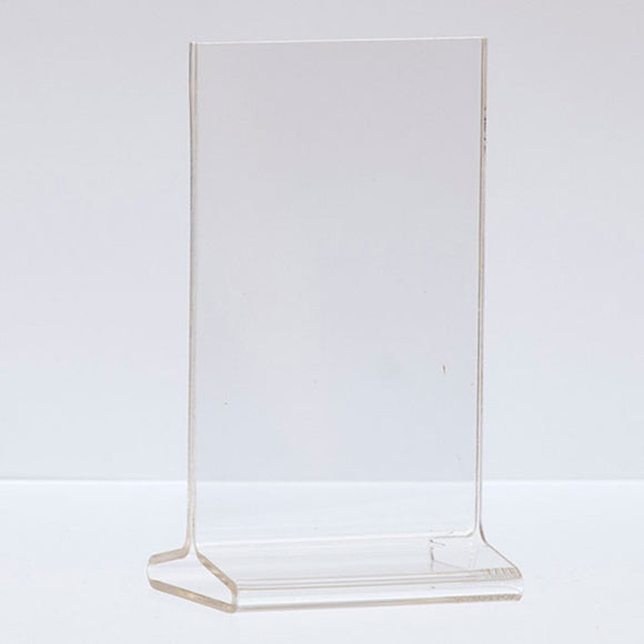 Top Load Acrylic Sign Holder - Vertical - 3-1/2
