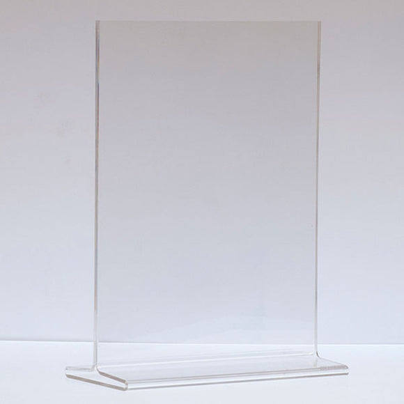 Top Load Acrylic Sign Holder - Vertical - 8-1/2