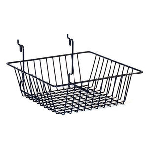 "Wire Basket - Universal Bracket - 12"" x 12"" x 4"" - Black"