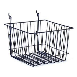 "Wire Basket - Universal Bracket - 12"" x 12"" x 8"" - Black"