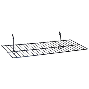 "Wire Shelf - Universal Bracket - 23-1/2"" x 12"" - Black"