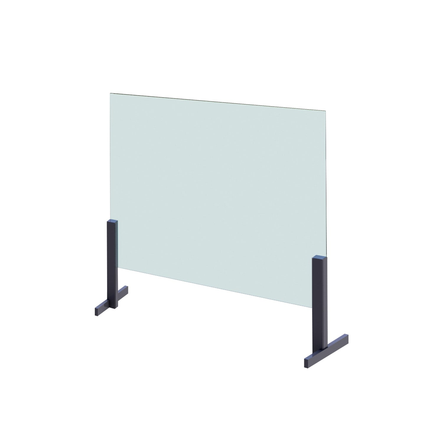 Desk-Top Hygiene Barrier (Safety Glass) with Pass-Through