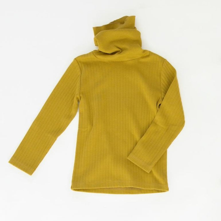 Fin & Vince Ribbed Turtleneck - Chartreuse