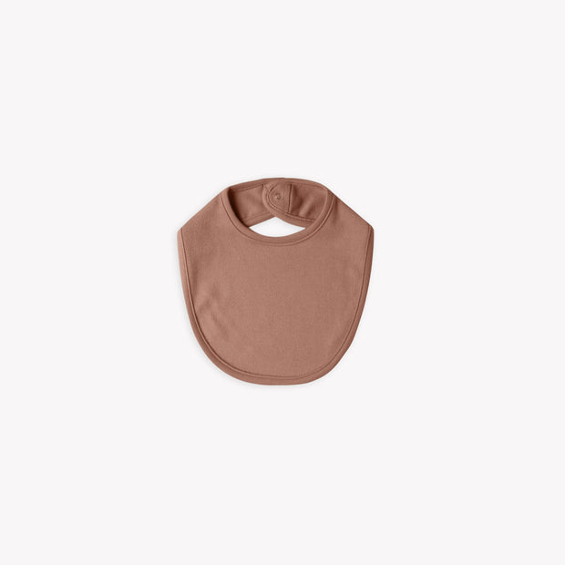Organic Snap Bib - Clay