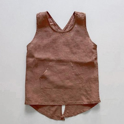The Simple Folk Linen Apron in Cinnamon