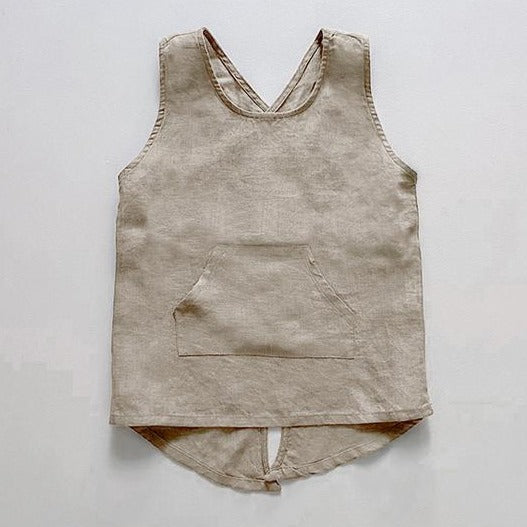 The Simple Folk Linen Apron in Oatmeal