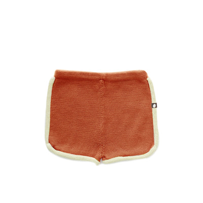 Oeuf 70s Shorts in Burnt Orange/Pale Green