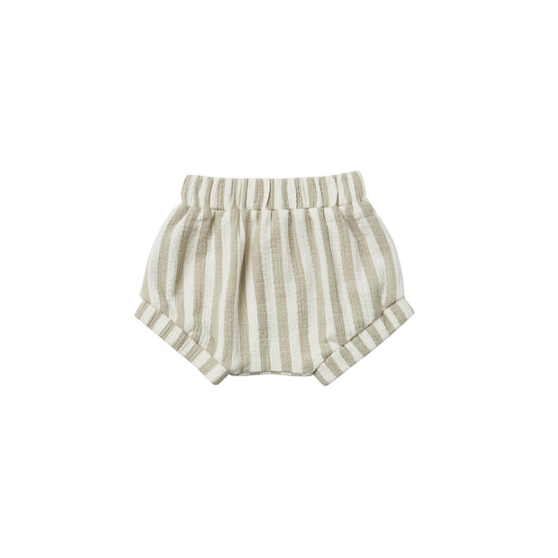 Quincy Mae Woven Shorts - Sage Stripe