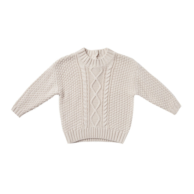 Cable Knit Sweater - Pebble