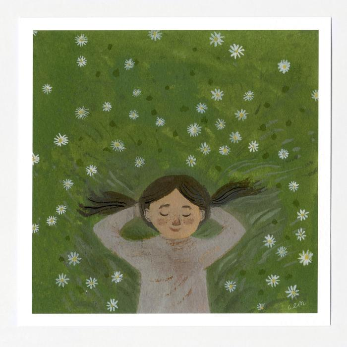 Dreaming in the Daisies 7x7 Print by Gemma Koomen