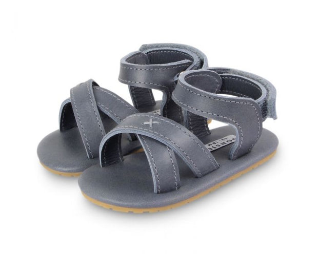 Giggles Leather Sandals - Grey