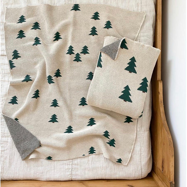 Knit Pine Tree Blanket (baby & throw)