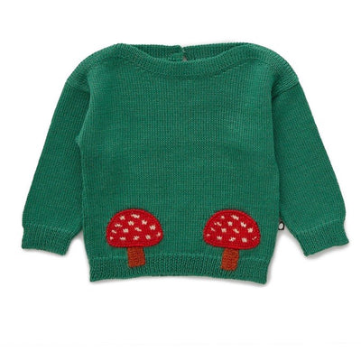 Oeuf Boatneck Sweater - Mushrooms