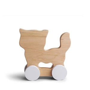 Wooden Rolling Cat