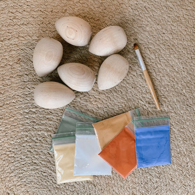 Wooden Egg Painting Kit