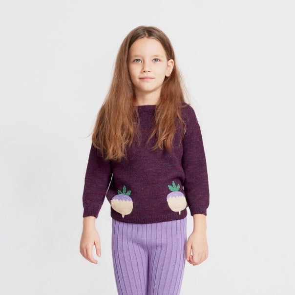 Oeuf Boatneck Sweater - Turnips
