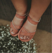 Giggles Leather Sandals - Rose
