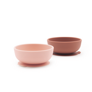Ekobo Suction Bowl Set - Blush/Terracotta