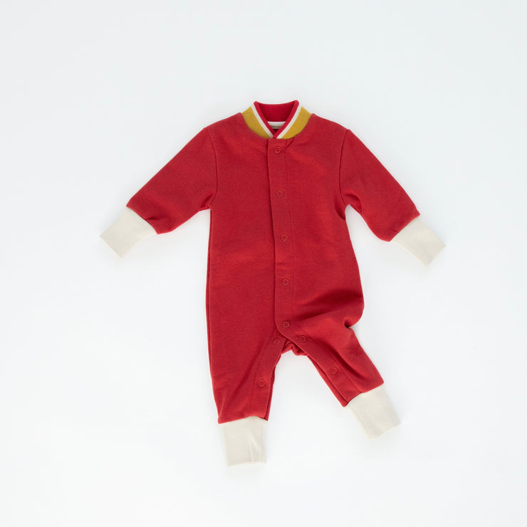 Fleece Romper - Crimson
