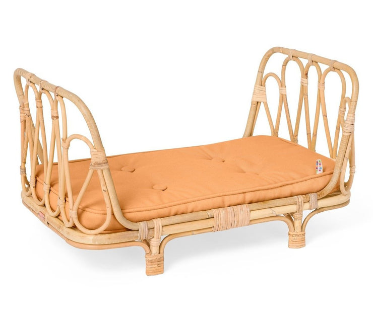 Doll's Rattan Day Bed - Clay